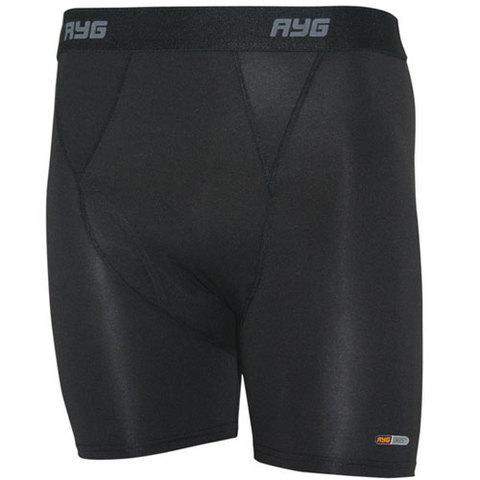 AYG Men's 4-Way Stretch Boxer Brief-Black