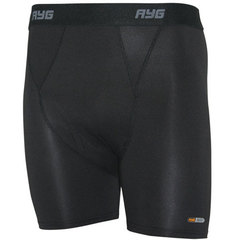 AYG Men's 4-Way Stretch Boxer Brief-Black