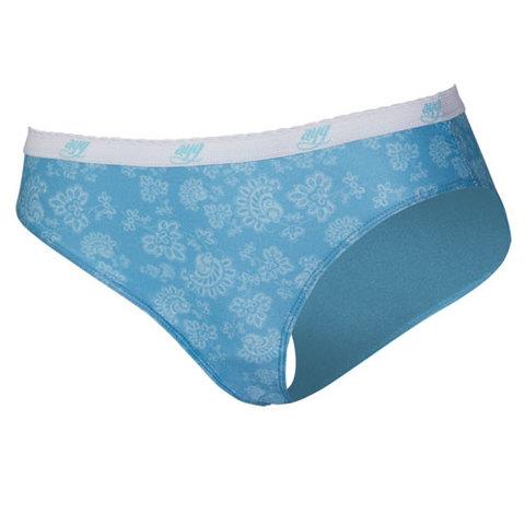 AYG Women's 4-Way Stretch Bikini Brief-Teal