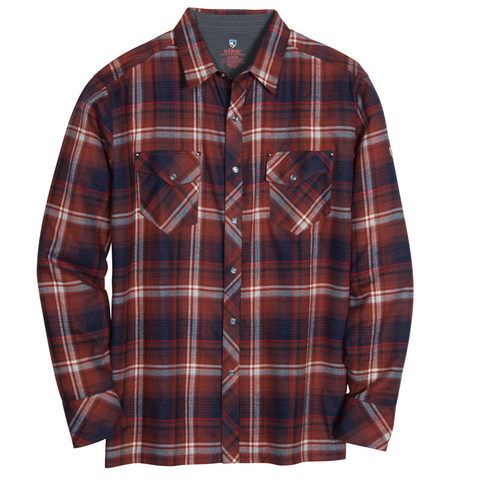 Kuhl Men's LowDown Flannel Shirt - Red Rock