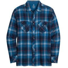 Kuhl Men's LowDown Flannel Shirt - Pirate Blue