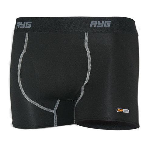AYG Men's Performance 4-Way Stretch Sports Brief-Black