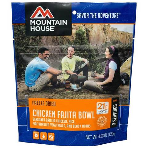 Mountain House Chicken Fajita Bowl Pouch Entree