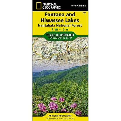 National Geographic Fontana and Hiwassee Lakes (Nantahala National Forest) Trails Illustrated Map