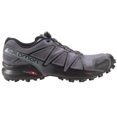 Salomon Men's Speedcross 4 Trail Running Shoes - Dark Cloud/Black/Pearl Grey
