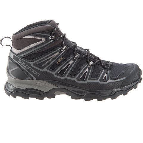 Salomon Men's X Ultra Mid 2 GTX Boots - Black/Aluminum