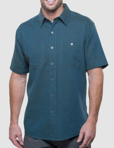 Kuhl Men's Skorpio Short Sleeve Shirt - Pirate Blue