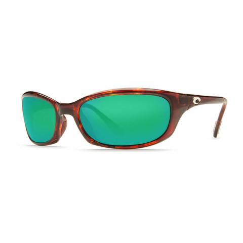 Costa Harpoon Tortoise 580G Glass Lens Sunglasses - Polarized Green Mirror