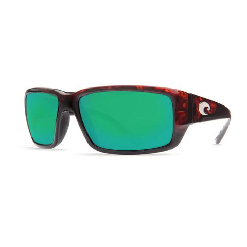 Costa Fantail Tortoise 580G Glass Lens Sunglasses - Polarized Green