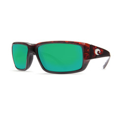 Costa Fantail Tortoise 580G Glass Lens Sunglasses - Polarized Green