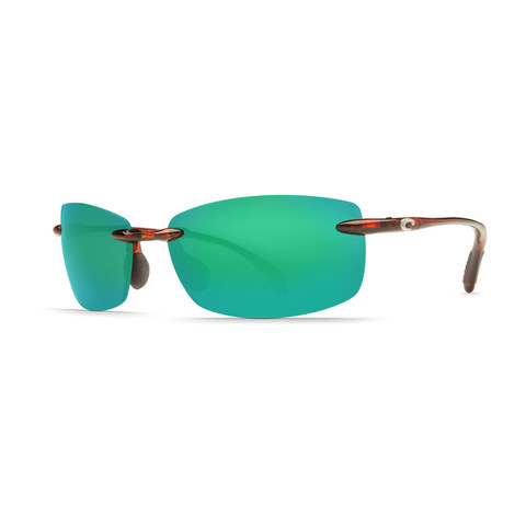 Costa Ballast Tortoise 580P Sunglasses - Polarized Green Mirror