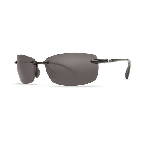 Costa Ballast Black 580P Sunglasses - Polarized Gray