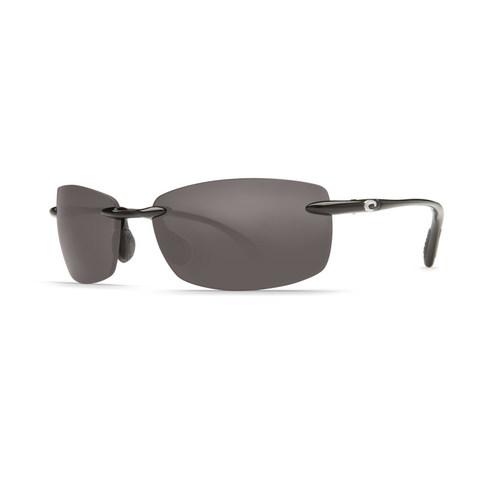 Costa Ballast Black 580P Sunglasses - Polarized Gray