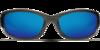 Costa Hammerhead Silver Teak 580P Sunglasses - Polarized Blue Mirror