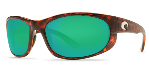 Costa Howler Tortoise 580P Sunglasses - Polarized Green Mirror