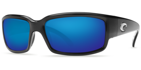 Costa Caballito Black 580P Sunglasses - Polarized Blue Mirror