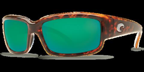 Costa Caballito Tortoise 580G Glass Sunglasses - Polarized Green Mirror