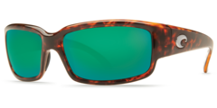 Costa Caballito Tortoise 580G Glass Sunglasses - Polarized Green Mirror