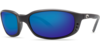 Costa Brine Black 580G Glass  Sunglasses - Polarized Blue Mirror