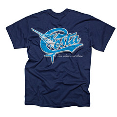 Costa Retro SS  T-Shirt - Navy