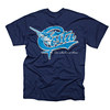Costa Retro SS  T-Shirt - Navy