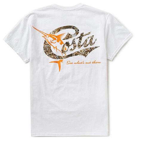 Costa Retro SS  T-Shirt - Max 5 Camo Logo