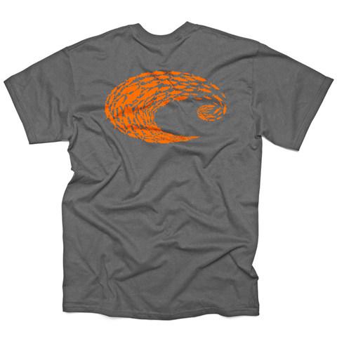 Costa Retro SS  T-Shirt - Schoolin Charcoal