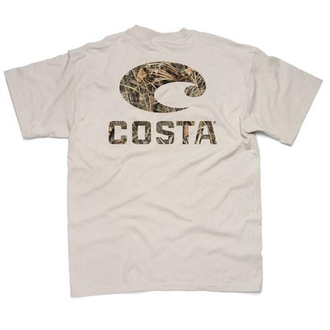 Costa Retro SS  T-Shirt - Max 5 Camo Logo Tan