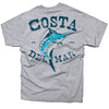 Costa Vintage SS  T-Shirt - Gray - Back