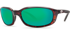 Costa Brine Tortoise 580G Glass Sunglasses - Polarized Green Mirror