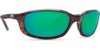 Costa Brine Tortoise 580G Glass Sunglasses - Polarized Green Mirror