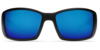 Costa Blackfin Black 580G Glass Sunglasses - Polarized Blue Mirror