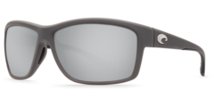 Costa Mag Bay Matte Gray 580P Sunglasses - Polarized Silver