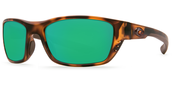 Costa Whitetip Matte Retro Tortoise 580P Sunglasses - Polarized Green Mirror