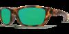 Costa Whitetip Matte Retro Tortoise 580P Sunglasses - Polarized Green Mirror
