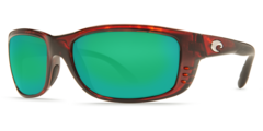 Costa Zane Tortoise 580P Sunglasses - Polarized Green Mirror
