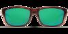 Costa Zane Tortoise 580P Sunglasses - Polarized Green Mirror