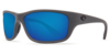 Costa Tasman Sea Matte Gray 580P Sunglasses - Polarized Blue Mirror