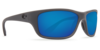 Costa Tasman Sea Matte Gray 580P Sunglasses - Polarized Blue Mirror