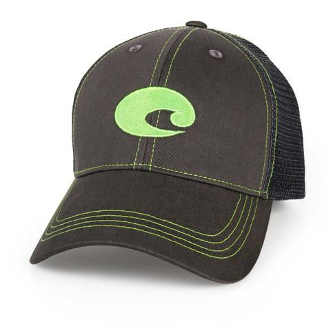 Costa Neon Trucker Hat - Graphite Green