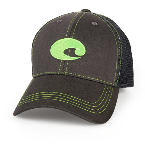 Costa Neon Trucker Hat - Graphite Green