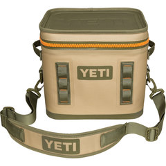 Yeti Hopper Flip 12 Soft Cooler - Field Tan/Blaze Orange
