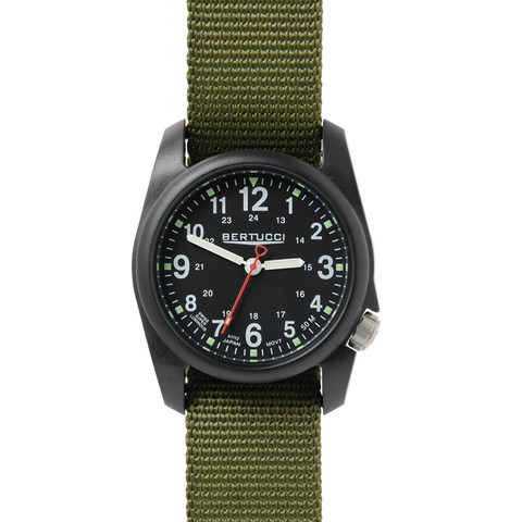 Bertucci 11016 DX3 Field Watch - Black / Green Nylon