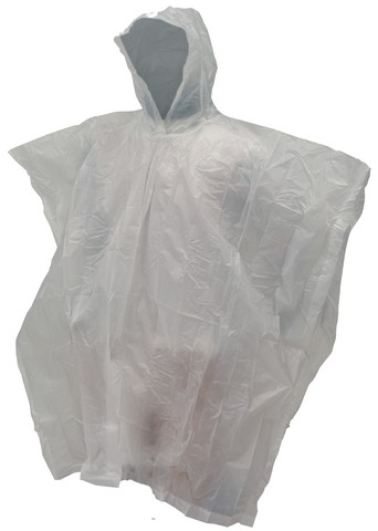Frogg Toggs Adult Emergency Poncho - White