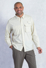 ExOfficio Men's Air Strip L/S - Bone