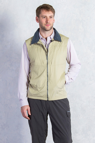 ExOfficio Men's FlyQ Vest- Light Khaki