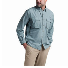 ExOfficio Men's Air Strip L/S - Blue Lead