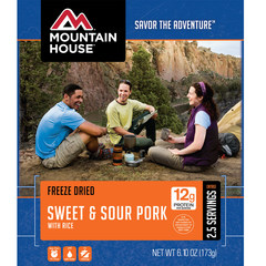 Mountain House Sweet & Sour Pork with Rice Entree