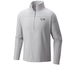 Mountain Hardwear MicroChill Lite Zip T - Gray Ice