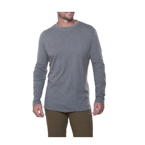 Kuhl Men's Stir LS Shirt-Heather Grey